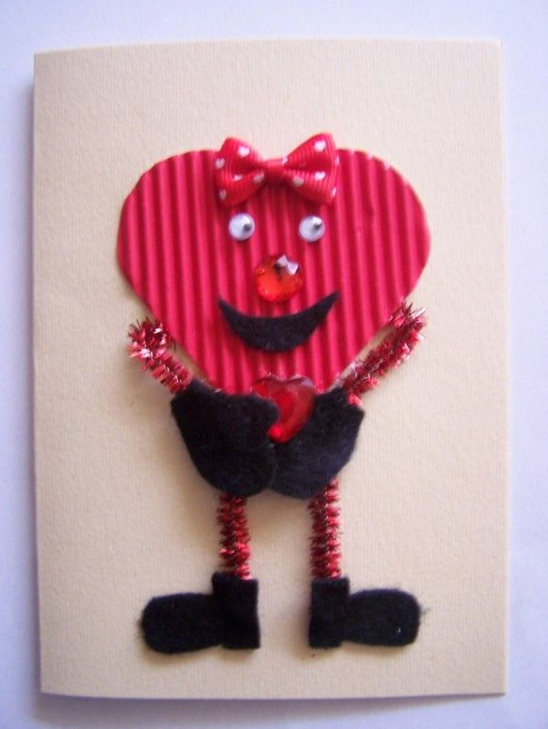 Making a Valentine Heart Card – Funky Valentines Cards