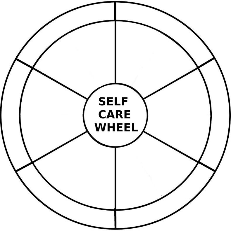 self-care wheel blank: physical psychological emotional personal ...