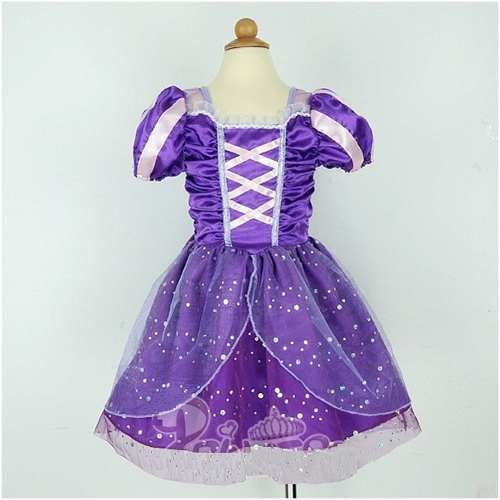 Fantasia Menina Luxo Princesa Rapunzel Disney-pronta Entrega - R$ 75,00