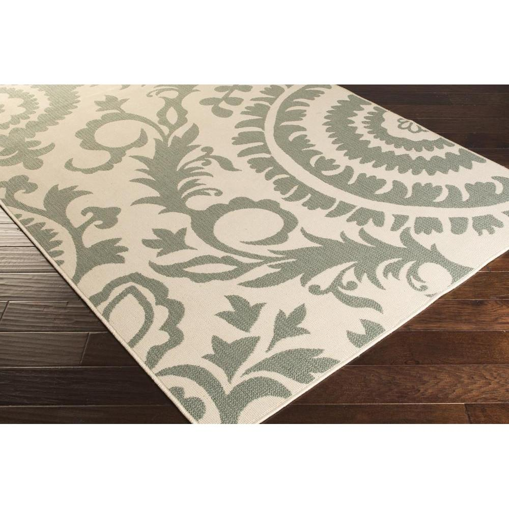 Alfresco area rug outdoor rugs green ikat and suzani rugs machine made style alf9614