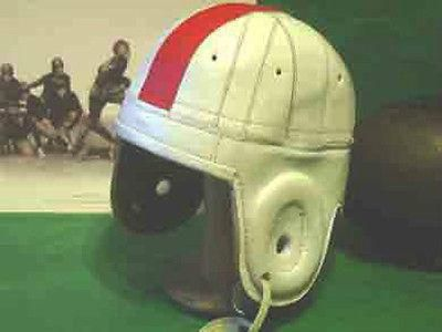 1940 s South Carolina leather style Football Helmet LG--Large to fit any head 40s White with Red striping- - old time college South Carolina Gamecock 40 style colors Made of fine saddle quality leathe