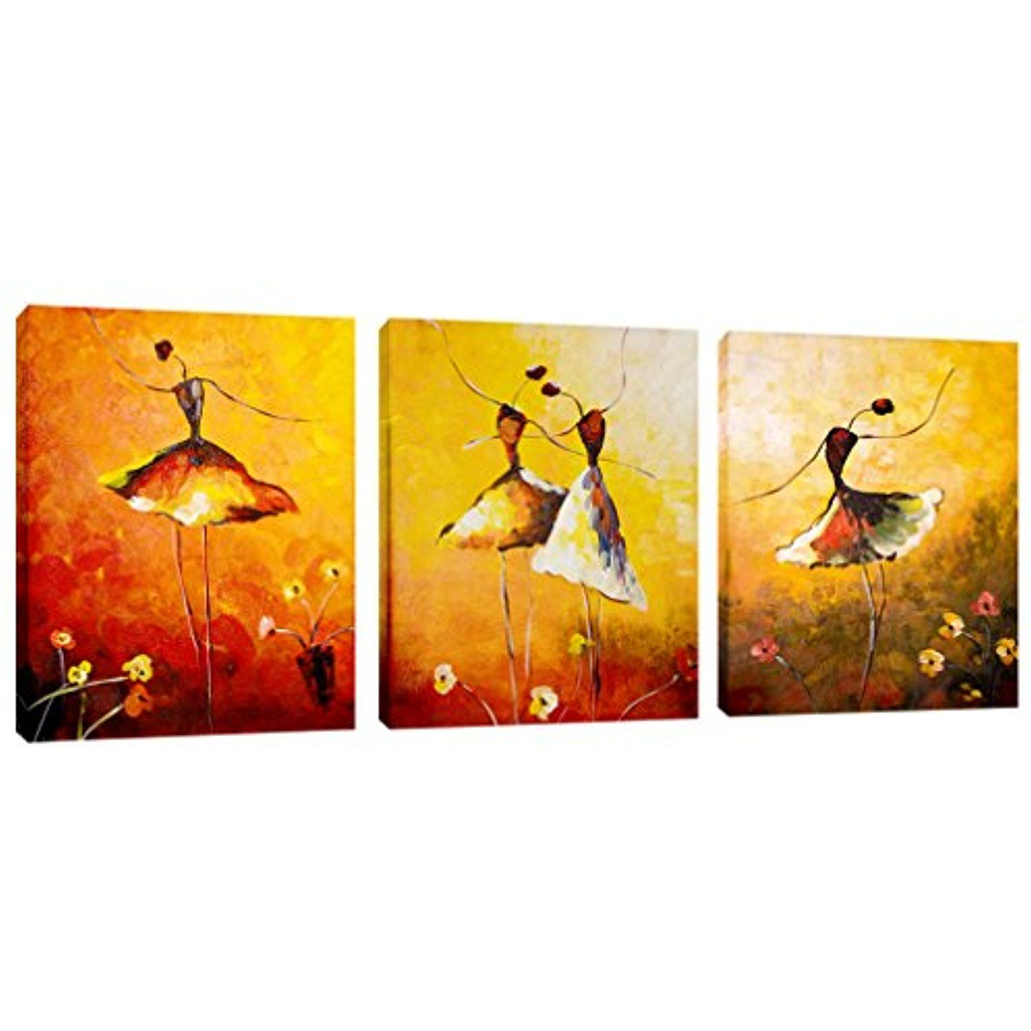 AMCART-Canvas Prints Beautiful Ballet Dance Painting Abstract Art ...