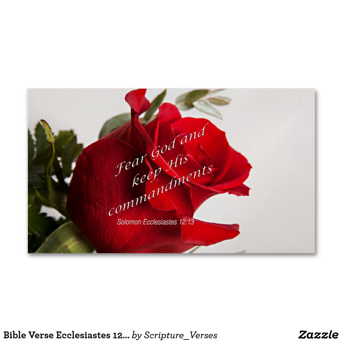 Bible Verse Ecclesiastes 12-13 Business Cards   business card ...