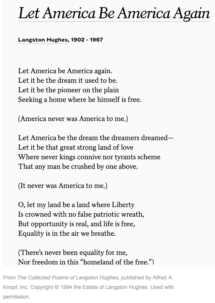 Proposal Essay Topics List Camille Rankine On Let America Be America Again By Langston Hughes  Scroll For Poem And Essay Poetsorg Blackhistorymonth  Blackhistorymonth Poetry Persuasive Essay Topics For High School also Business Law Essays Camille Rankine On Let America Be America Again By Langston Hughes  Analytical Essay Thesis Example