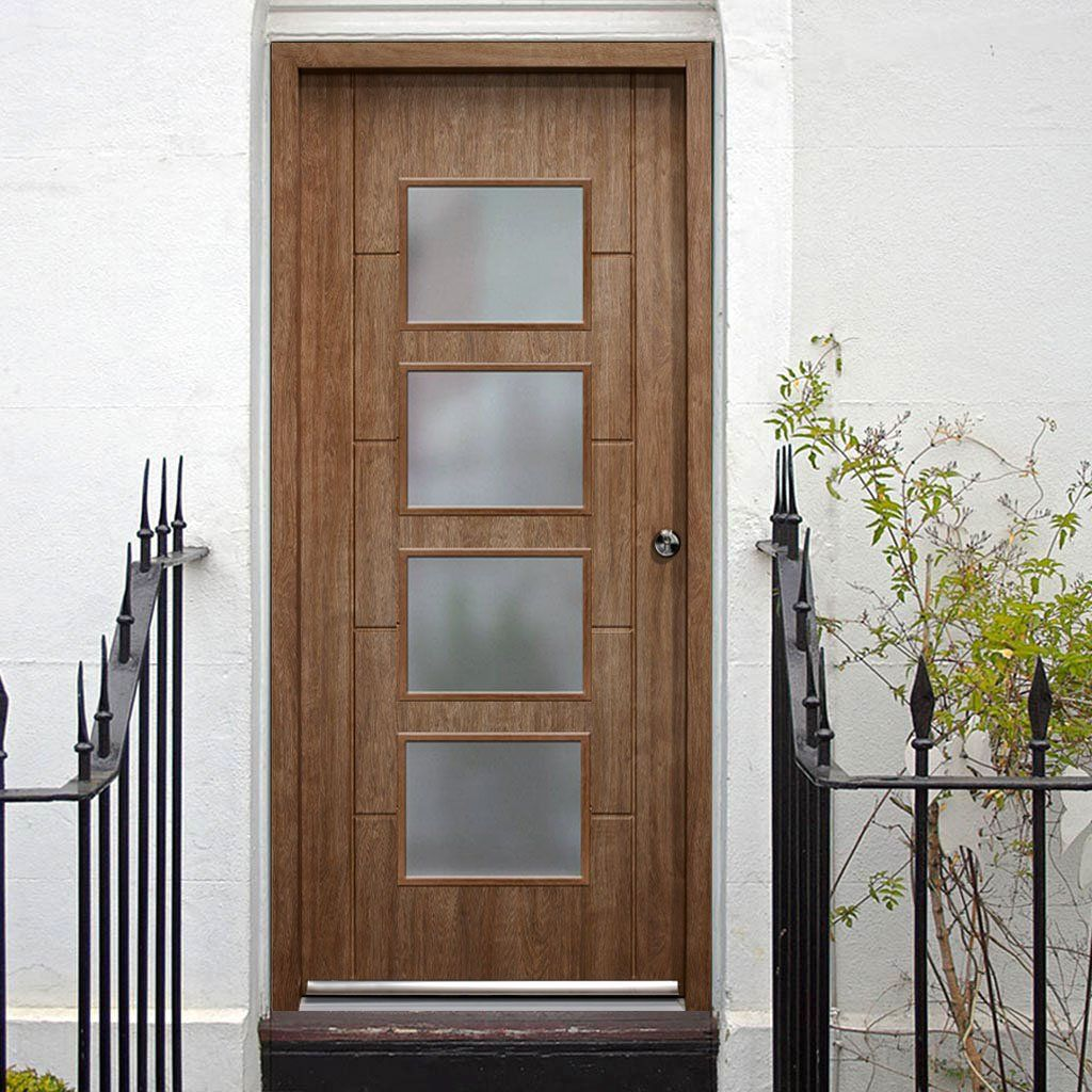 enduradoor vancouver external composite door with frosted. Black Bedroom Furniture Sets. Home Design Ideas