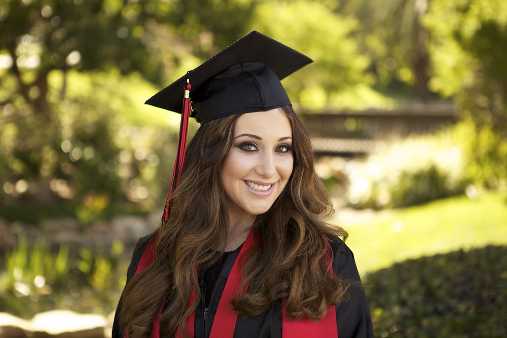 Female Graduation Photo SDSU Cap and Gown | Cap and Gown Poses ...
