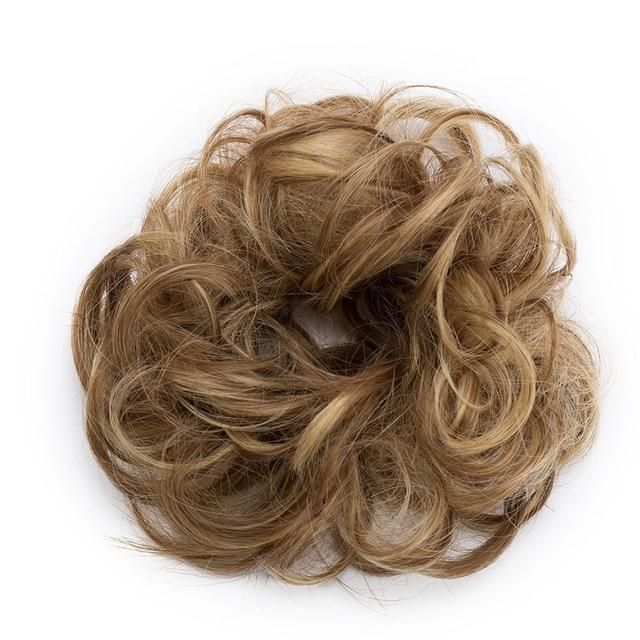 Rose Bun Hair Scrunchie-Medium Blonde