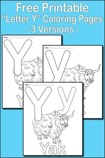 Letter Y Alphabet Coloring Pages 3 Printable Versions Alphabet Coloring Pages Coloring Pages Lettering