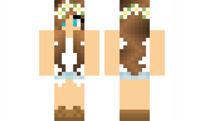 Minecraft Skin FlowerGirl Find It With Our New Android Minecraft - Skins para minecraft pe ipad