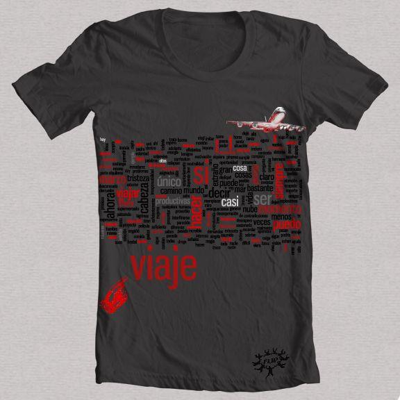 "Camiseta negra ""VIAJE 1"""