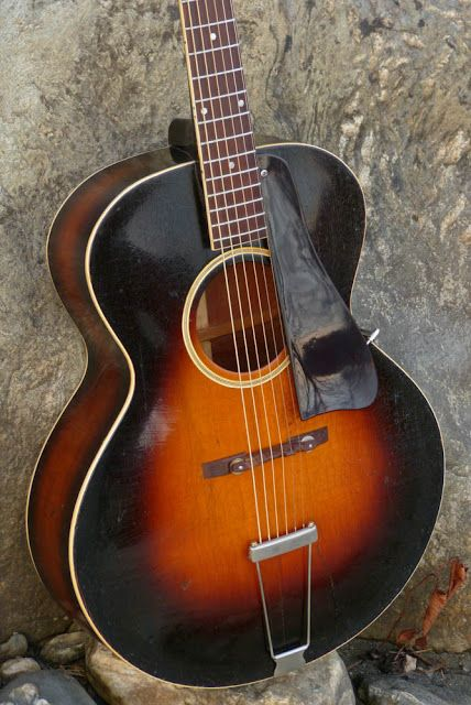 Vintage 1936 Gibson L-75 Round-hole Carved-top Arch-top Acoustic Guitar