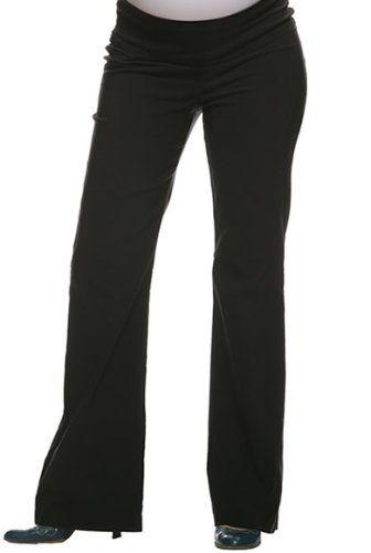 Black maternity dress pants