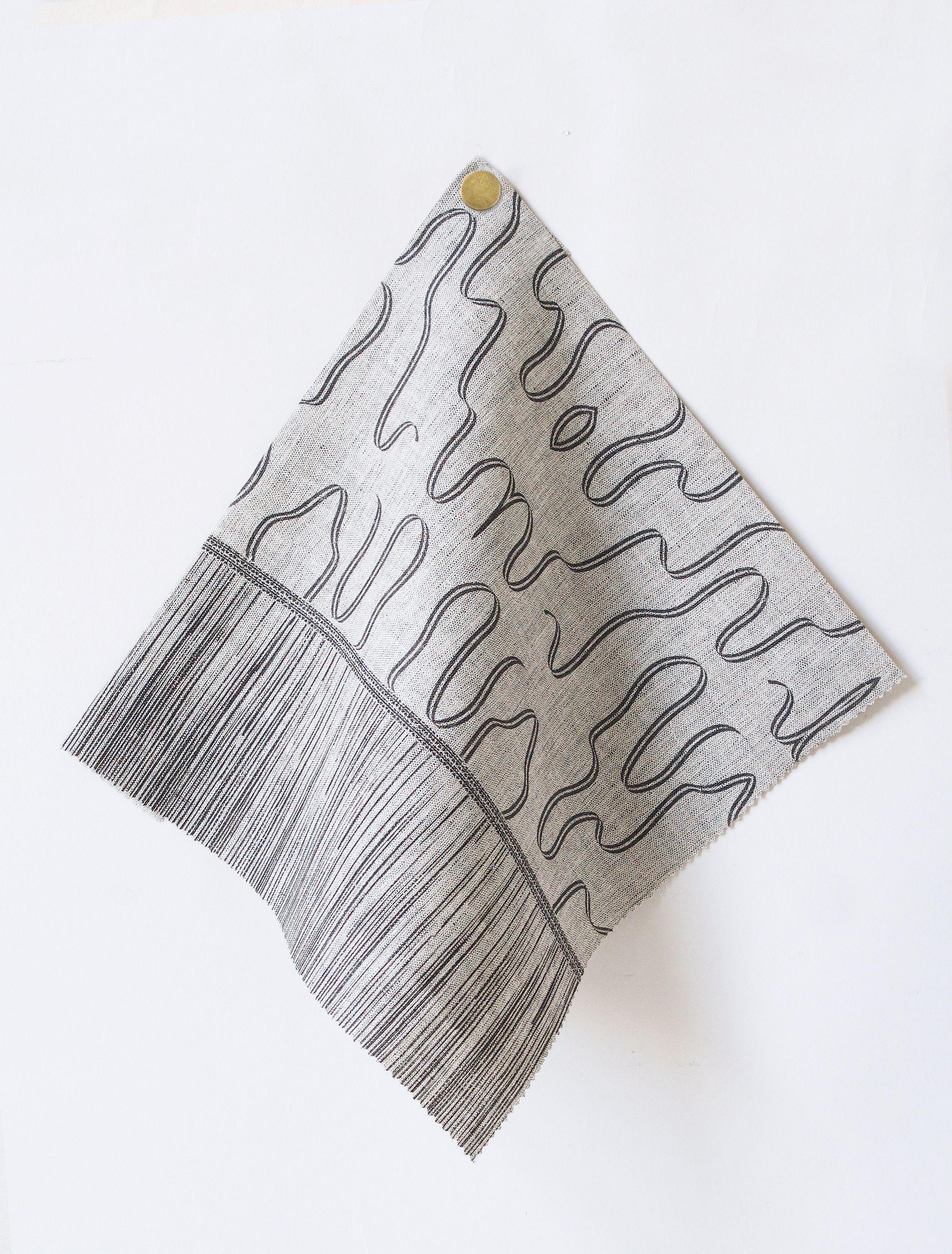 Abrayan Fabric in Kohl / Reverse