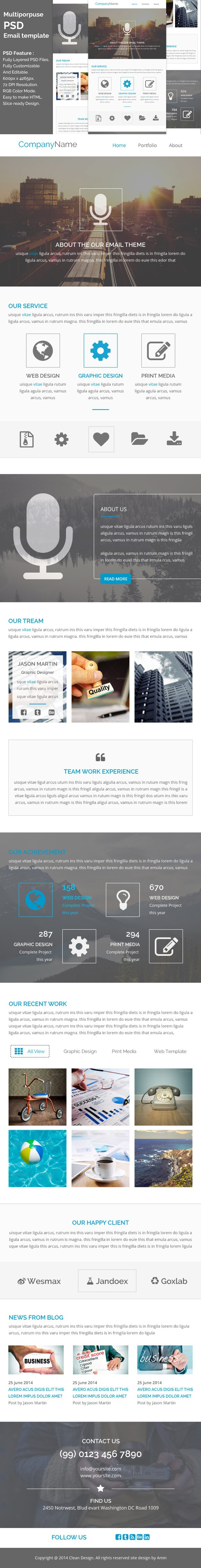 PSD email template e3 | Pinterest | Template, Ui design and Web ...