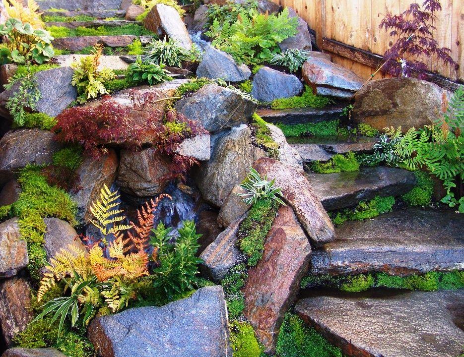 Natural Rock Waterfall | Natural waterfalls, Amazing ... on Rock Garden Waterfall Ideas  id=50379