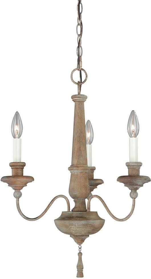Vaxcel H0078 Lucca Vintage Wood Finish 18 5 Wide Mini Chandelier Light Vxl