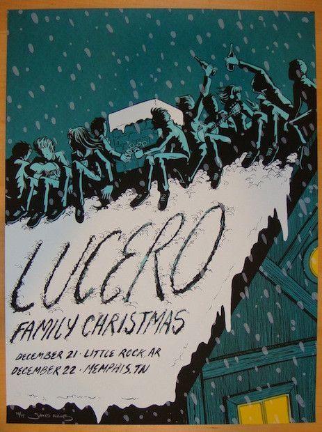 2011 Lucero - Memphis Silkscreen Concert Poster by James Flames