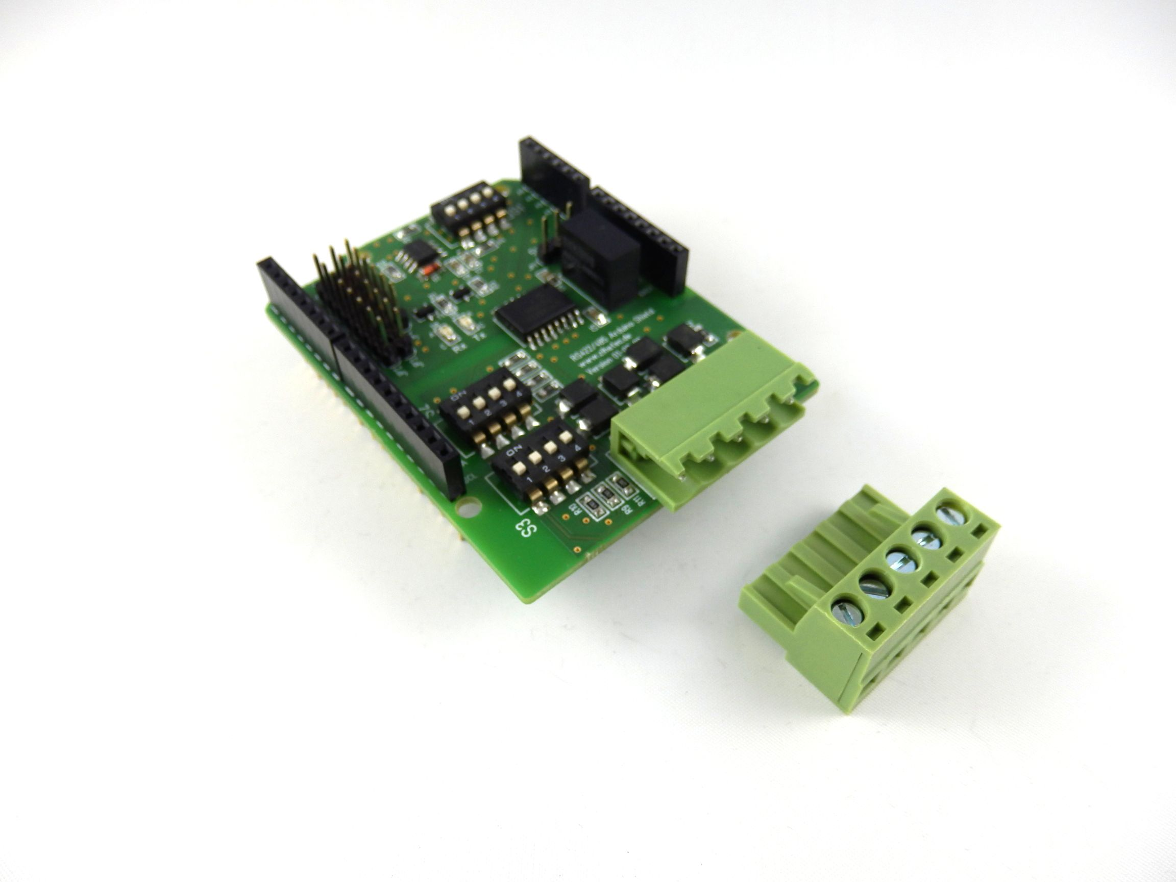Rugged RS422 & RS485 Shield for Arduino Uno with isolated