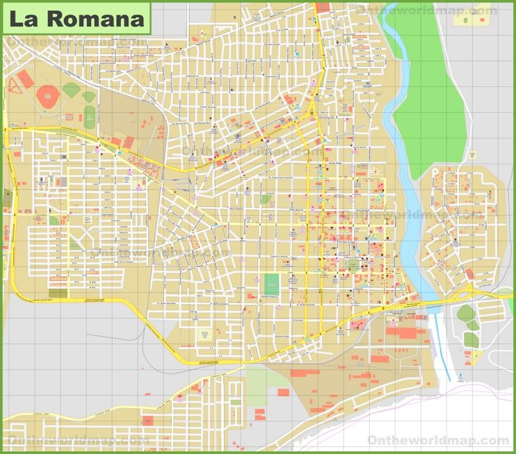 Large detailed map of La Romana Maps Pinterest Dominican