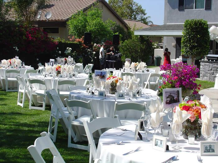 Small Wedding Reception Ideas At Home Part - 20: 6 Simple Tips For Brides To Plan Your DIY Backyard Wedding | Backyard,  Wedding And Backyard Weddings