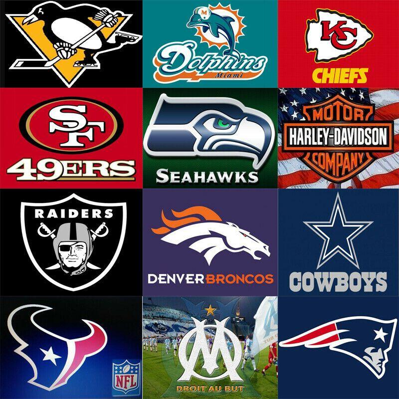 American Football Team Logo Diamond Painting Full Square Round Drill Nfl Team Unbranded Nfl Teams Logos Football Team Logos American Football Team