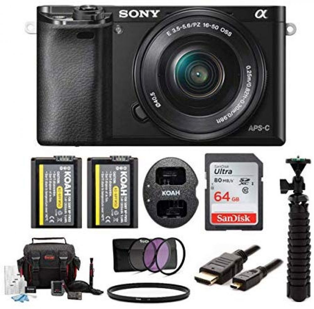Sony Alpha Ilce 6000l B A6000 Digital Camera With 16 50mm Lens Bundle With Accessory Bundle Black In 2020 Sony Camera Digital Camera Mirrorless Camera