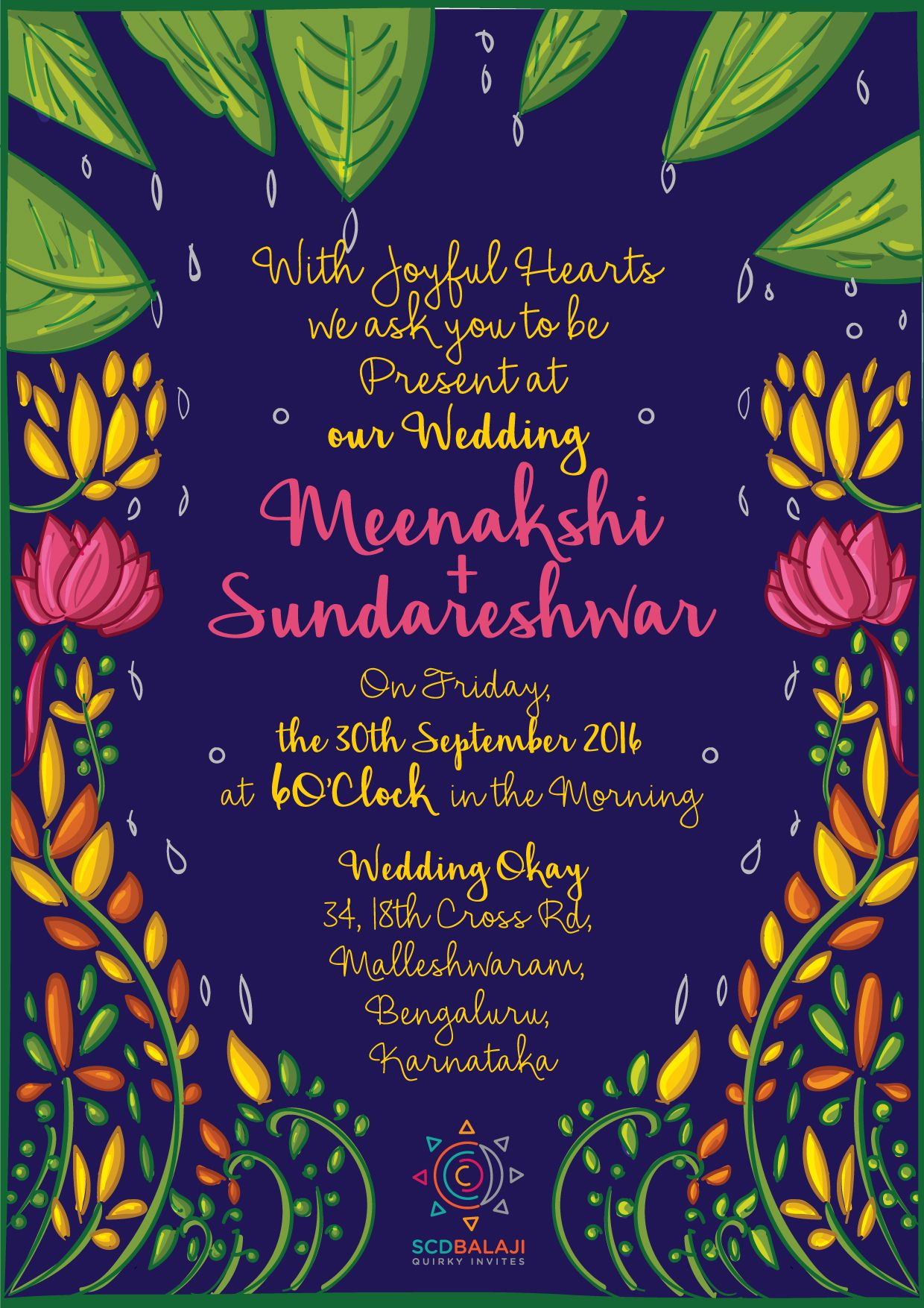 Print Ready Tamil Brahmin Wedding Invite Design By Scdbalaji Indian Ilrator South Ilration And Product Details