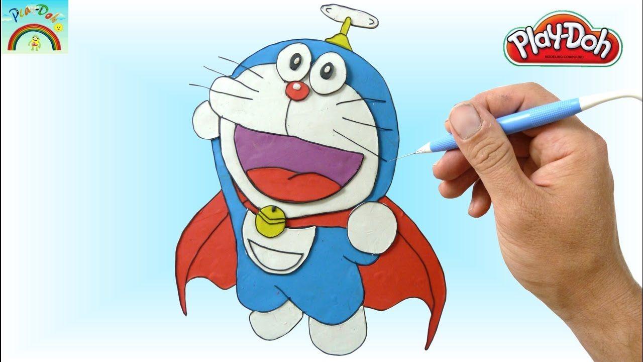 Super 4 Cartoon Characters : Play doh super doraemon modeling making cartoons