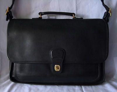 Coach Vintage Metropolitan 5180 Briefcase Laptop Messenger Bag Purse Black