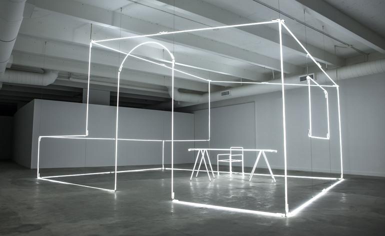 Bentley illuminates Design Miami with a neon installation
