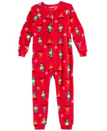 99c3ac86ad5d Matching Family Pajamas Elf One-Piece
