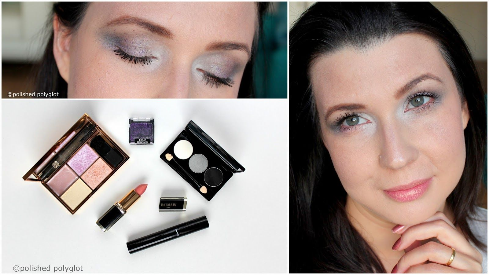 Makeup │ Smokey Pearl Grey look with Subtle Purple Glitter [Monday ...