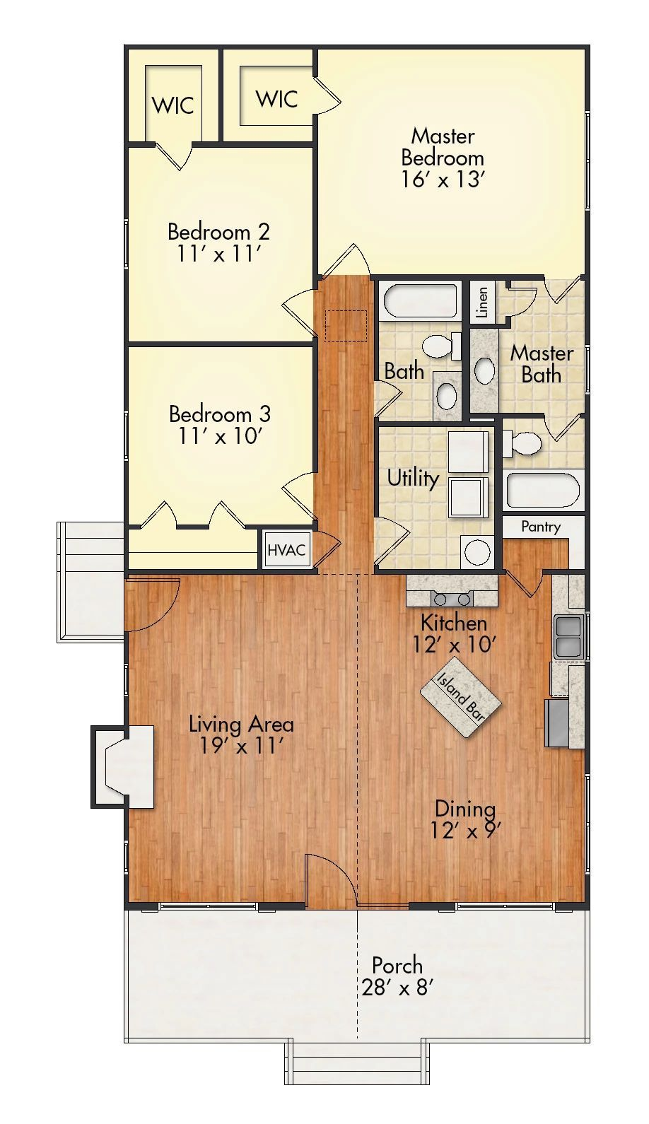 With An Open Floor Plan The Aspen Features An Inviting Porch And A Generous Family Area With A Loft House House Floor Plans House Plans