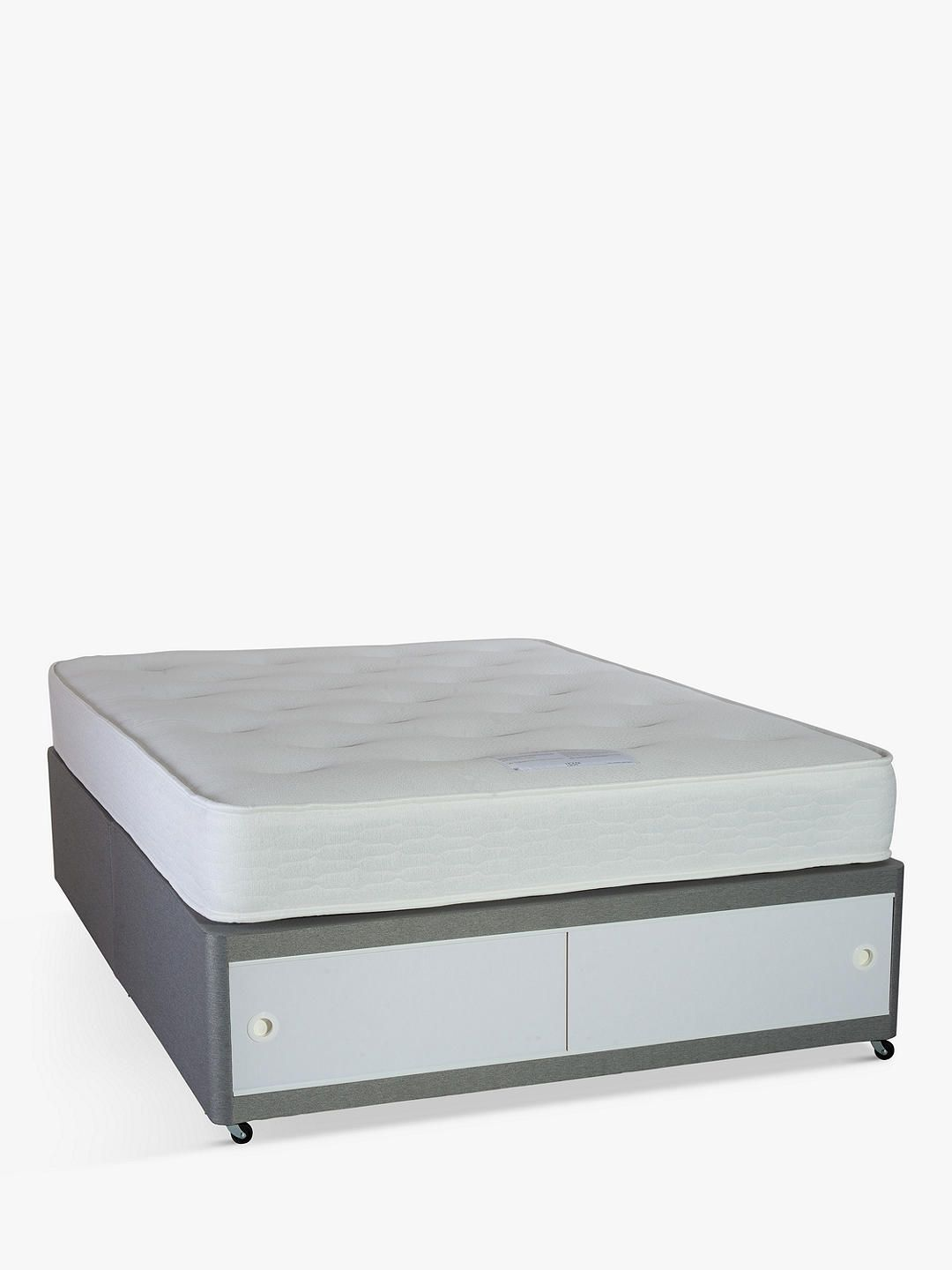 House By John Lewis Divan Base And Open Coil Mattress Set Medium