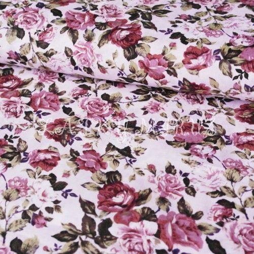 č.1795 popelín růže na růžové 0c8e0a88a71