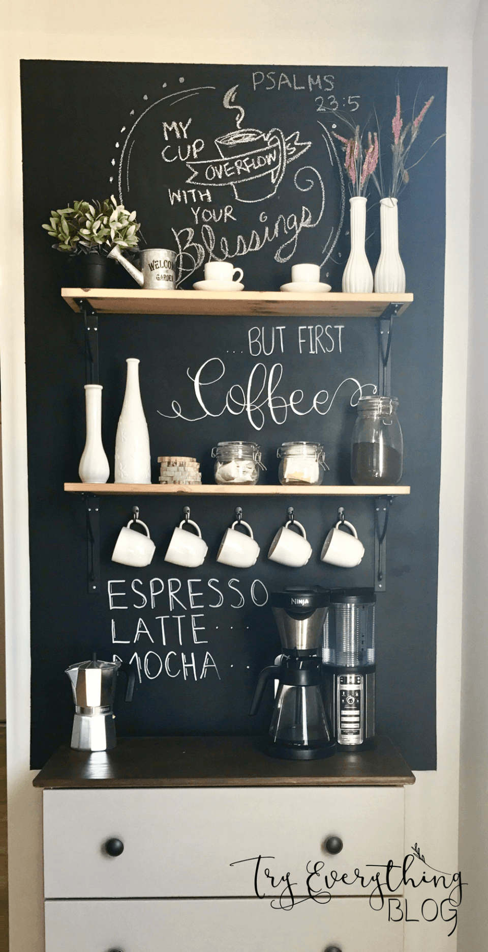 Simple Farmhouse Coffee Bar