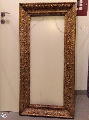 stor antik spegel
