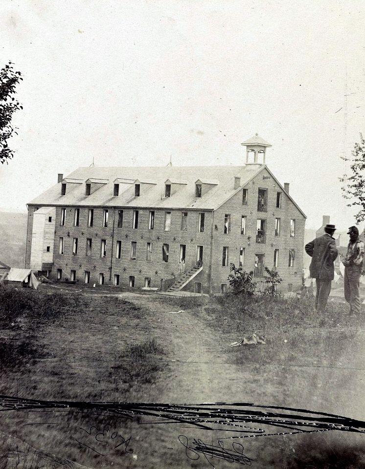 Circa between 1861 and 1865. Warehouse at Fredericksburg