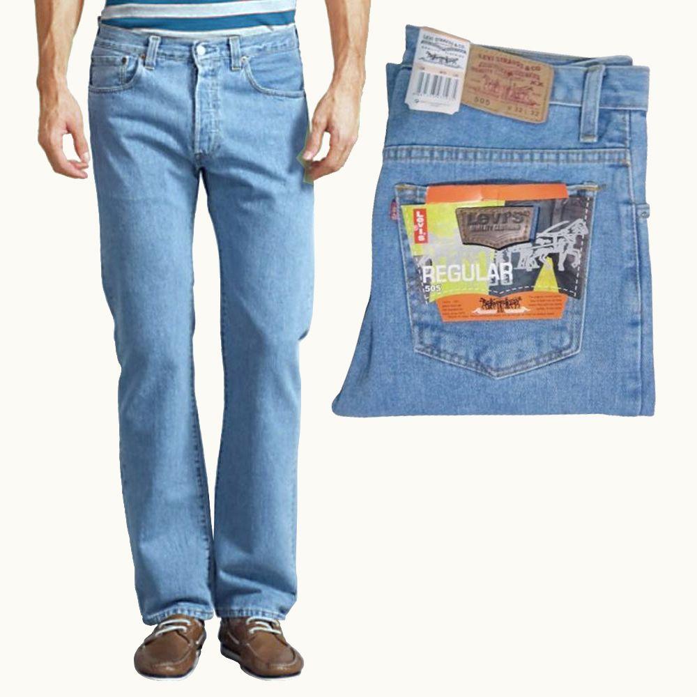 Celana Jeans Levis 505 Regular Tersedia Big Size Walau Mendapat Saingan Merek Merek Celana Pendatang Baru Namun Tetap Celana Jean Mens Outfits Levi Jeans