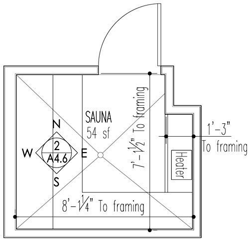 Sauna design construction saunas sauna design and Sauna blueprints