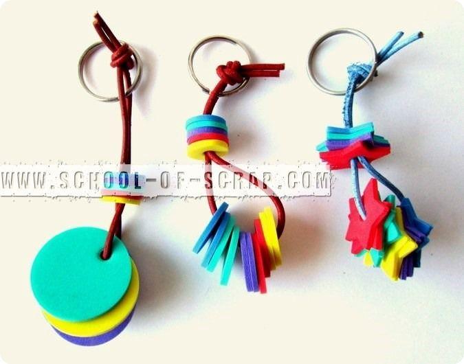 Fabuleux Idee regali fai da te: portachiavi con gomma crepla | crafts  QT16
