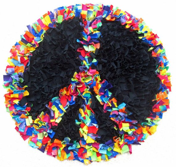 High Quality Peace Sign Rug Roselawnlutheran