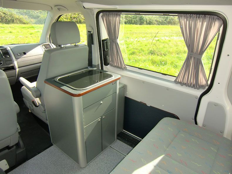 Furniture for vw t5 t6 multivan multivan kitchen block for Camping kuchenblock