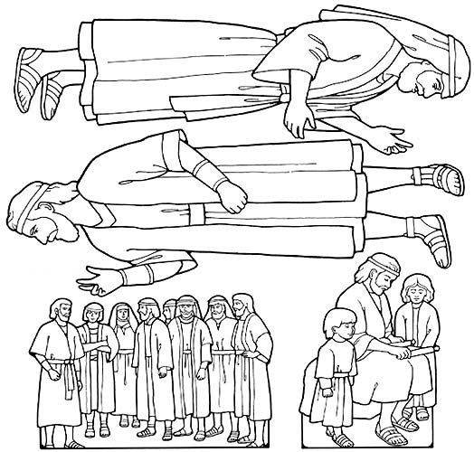 40+ Nephi and the brass plates coloring page free download
