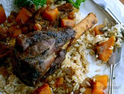 Moroccan Lamb Shanks are the perfect delicious (and easy-to-make) meal for a date night in. Photo by Rachael Brugger