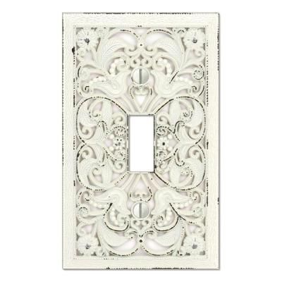 Creative Accents Arabesque 1 Toggle Wall Plate White 9dcw101 At The Home Depot Plates On Wall Decor Light Switch Covers