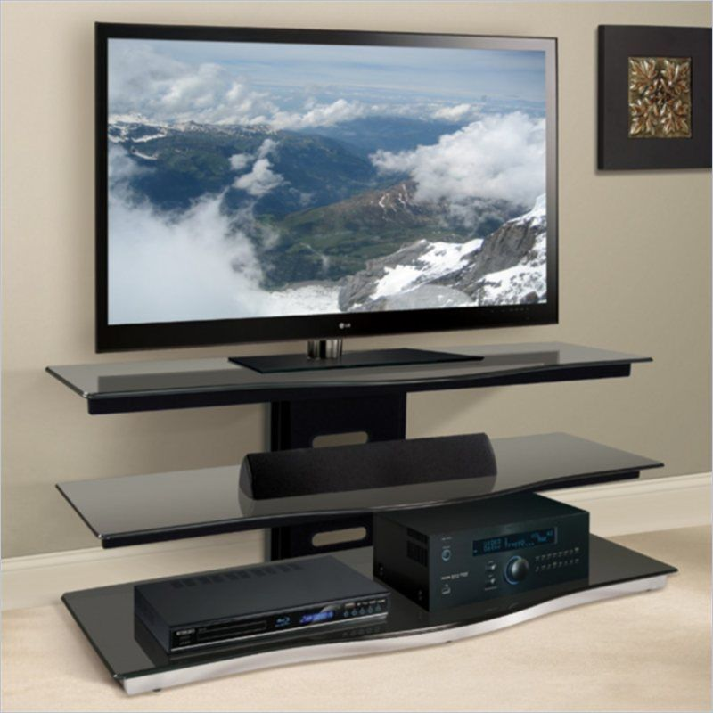Bello 52 Tv Stand In Black Pvs4252 Flat Screen Tv Stand 55 Inch Tv Stand Modern Tv Stand 55 tv stand with mount