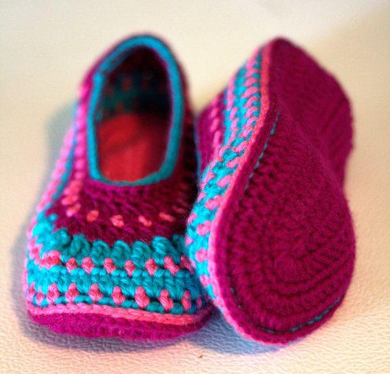 pantoufles chaussette chausson femme fille au crochet au tricot chaussons femme le par et. Black Bedroom Furniture Sets. Home Design Ideas