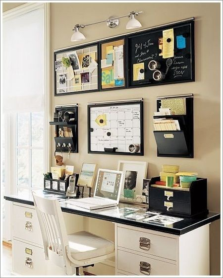 Small Space Home Office   Wall And Desk Office Area