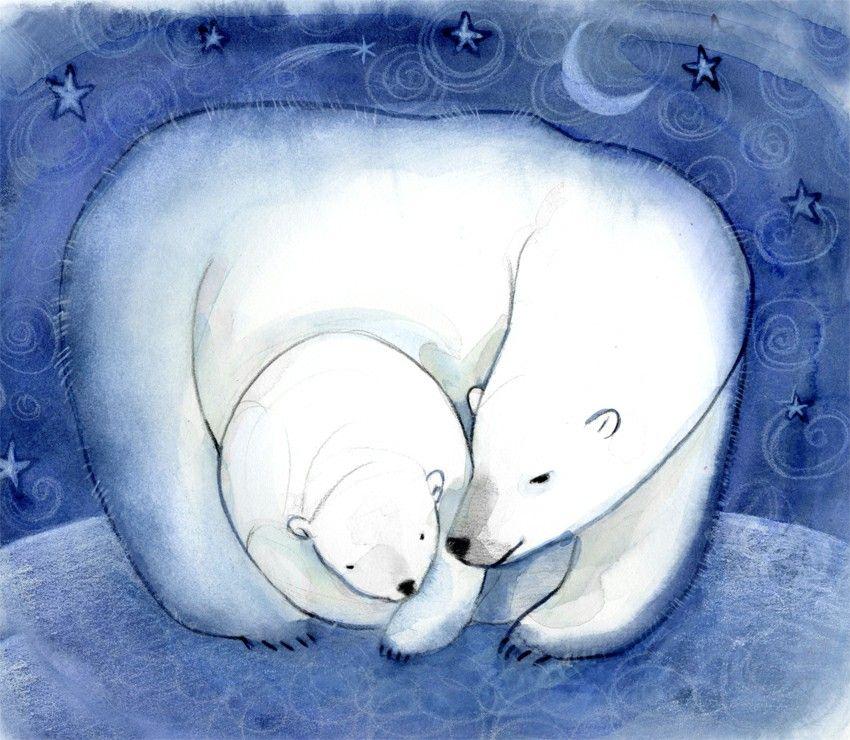 Картинки кур, открытка с белыми медведями